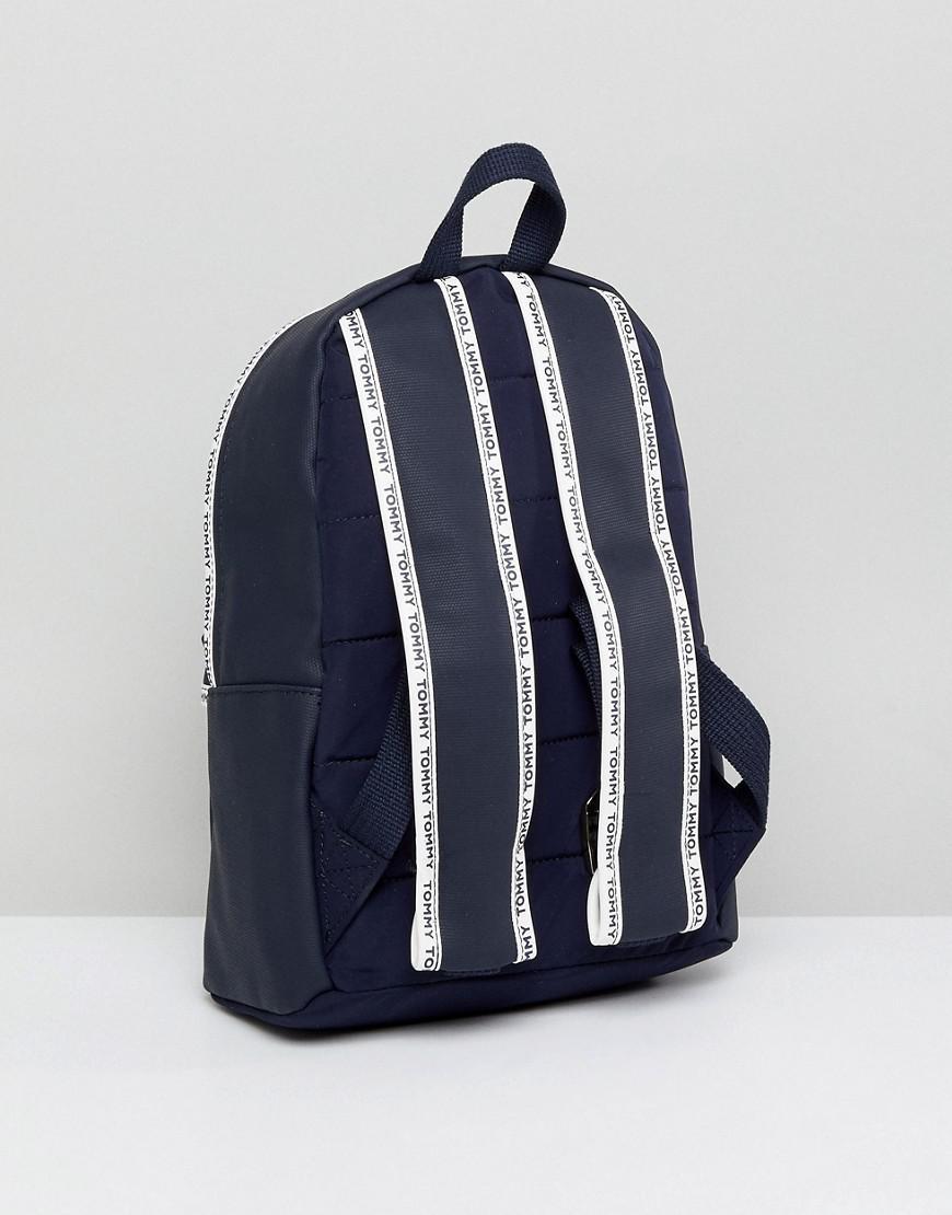 tommy hilfiger logo tape mini backpack