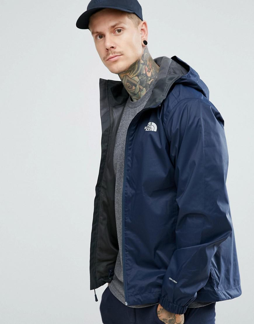 87cbb275bb ... inexpensive lyst the north face quest lightweight waterproof jacket in  navy in 241da 2380a