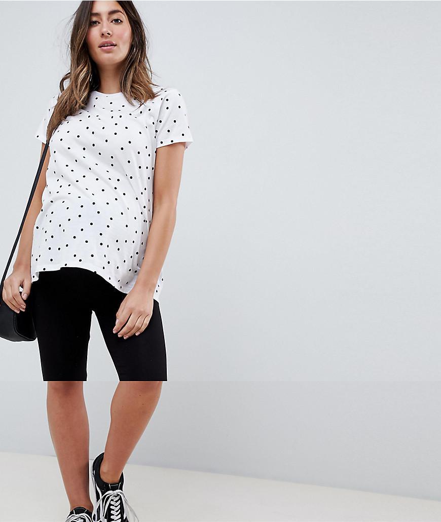 b376db69160a14 Lyst - ASOS Asos Design Maternity Basic legging Shorts in Black
