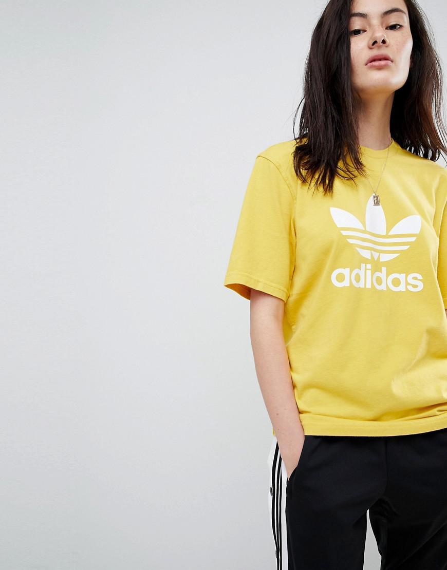 Lyst adidas Originals Originals Adicolor Trefoil oversized t shirt