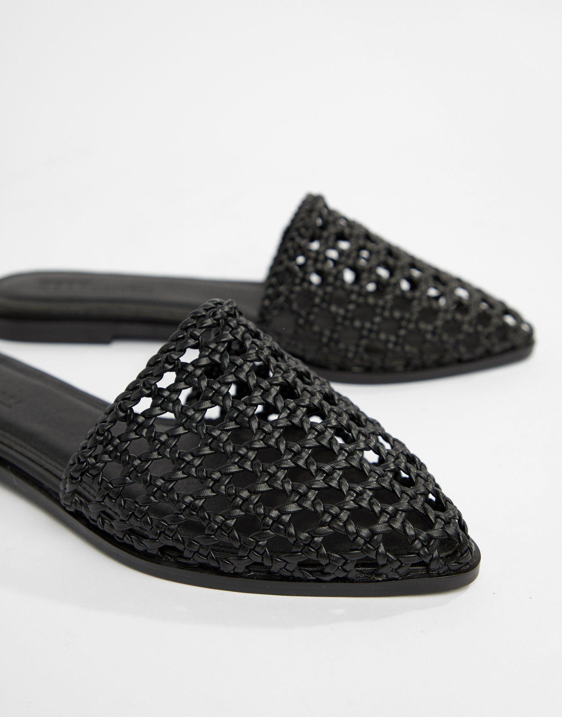 Chinelas tejidas ASOS de Denim de color Negro