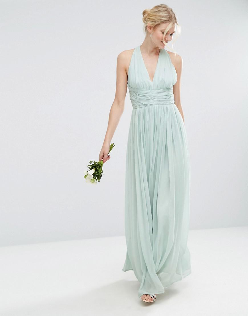 Lyst - Asos Wedding Hollywood Maxi Dress in Blue