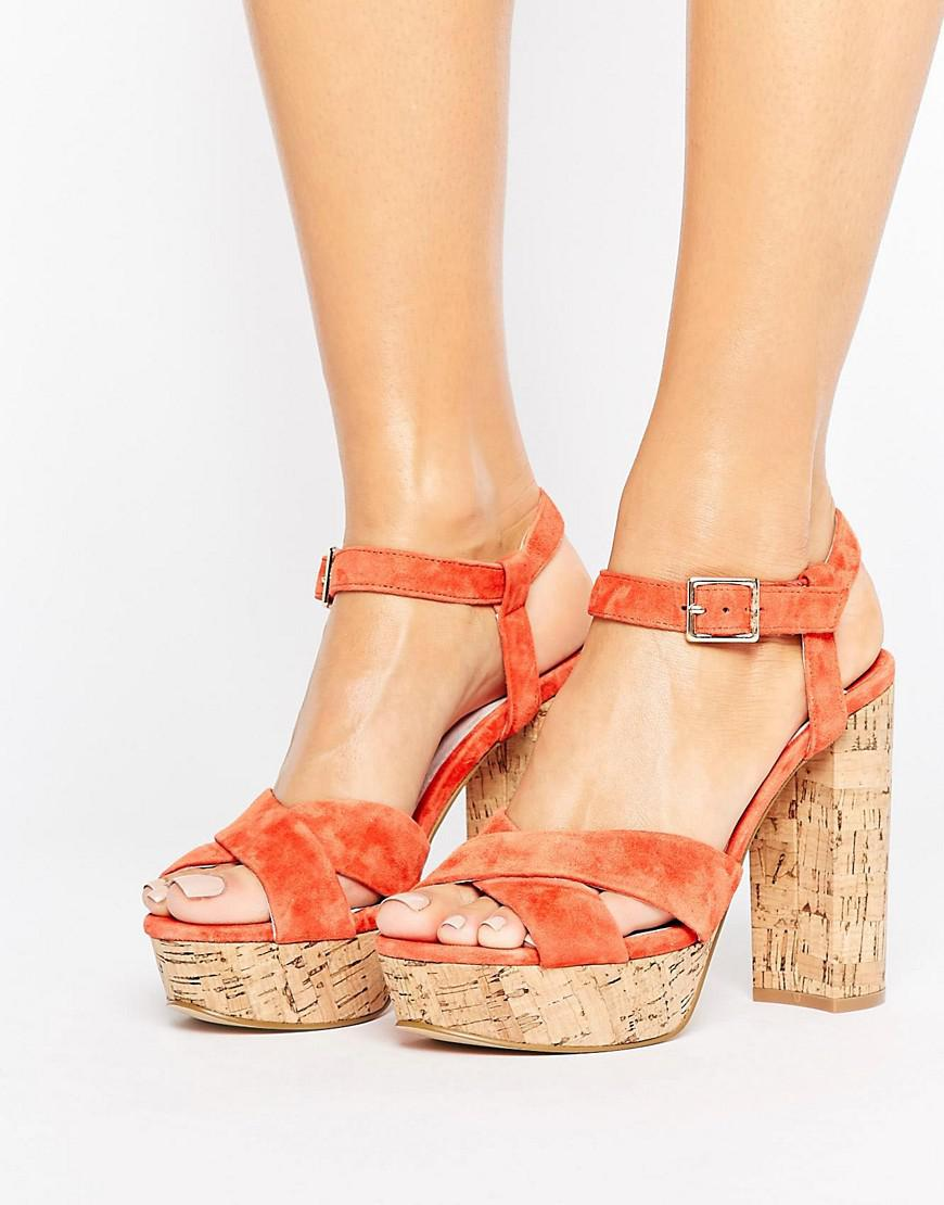 Faith Leela Platform Heeled Sandals ybl72X2