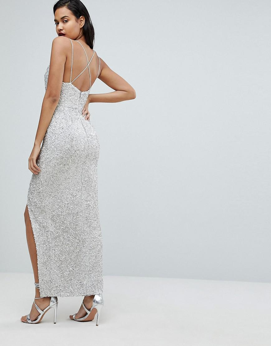 39f02204c7cba Forever New Allover Sequin Maxi Gown - Lyst