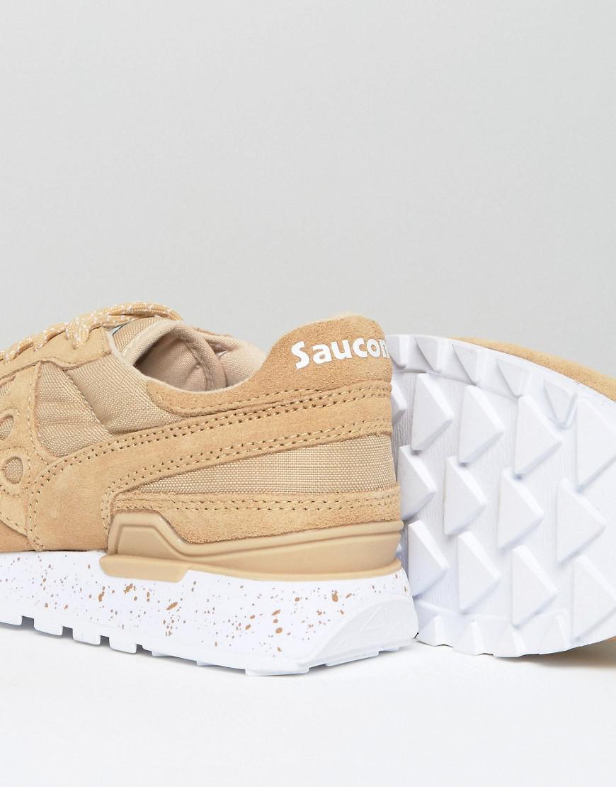 Saucony Suede Shadow Original Ripstop Sneakers In Tan S70300-1 for Men