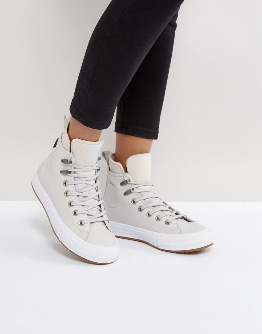 3c4471909dd1 Lyst - Converse Chuck Taylor All Star Hi Top Boot In Beige in Natural