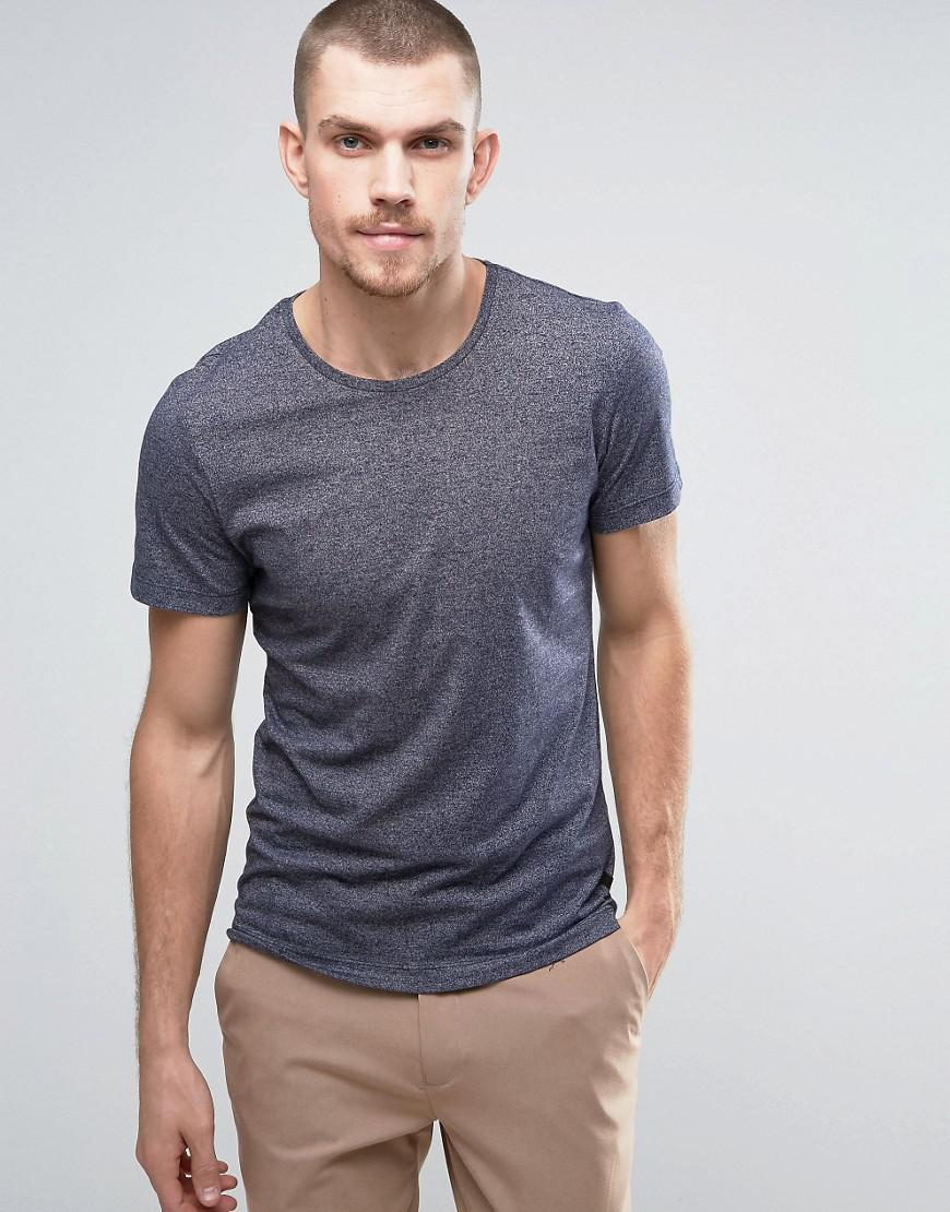 Casual friday t shirt in marl in black for men lyst for Mens dress shirts black friday