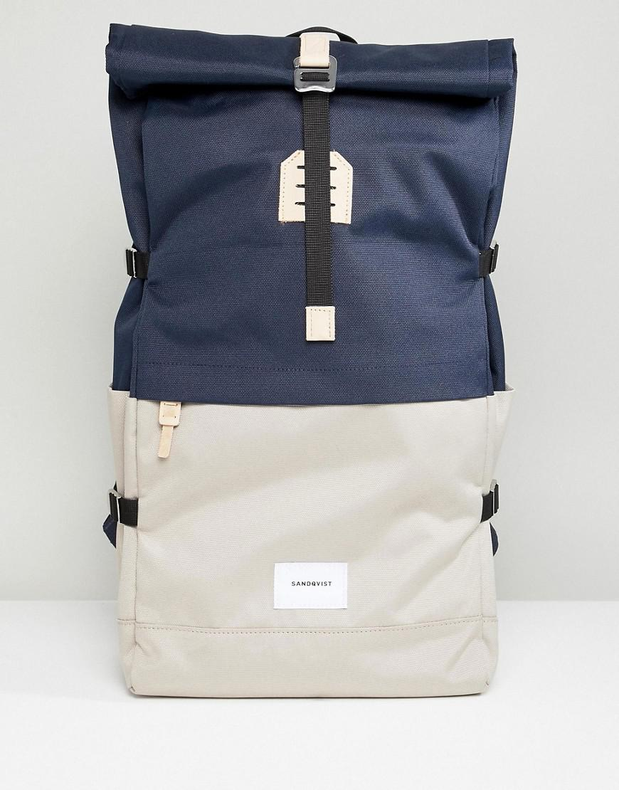 3175404e0e Lyst - Sandqvist Bernt Backpack With Rolltop in Blue for Men