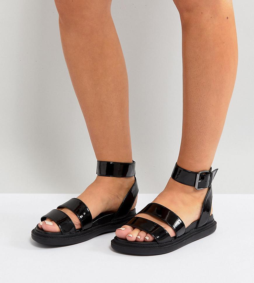 ASOS DESIGN Fencer chunky sporty flat sandals 8Ta2gg