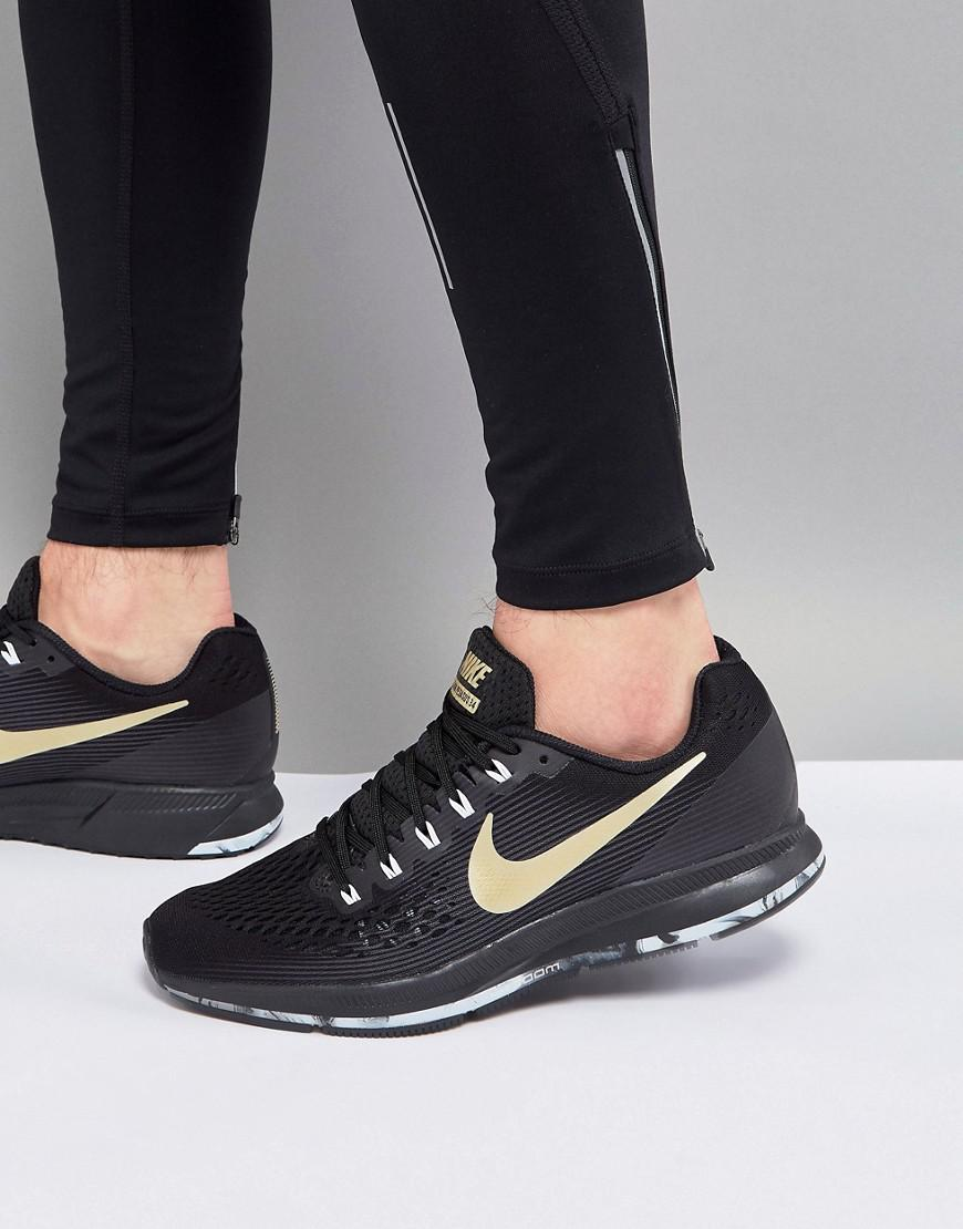 536283c6d5f4e Nike Air Zoom Pegasus 34 Trainers In Black 880555-017 in Black for ...
