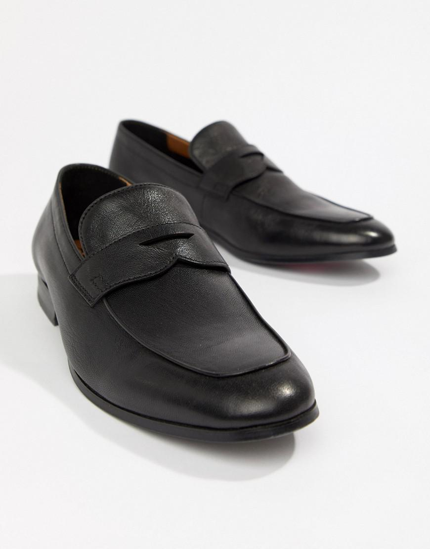2ab3be824be Lyst - ALDO Umiasen Penny Loafers In Black Leather in Black for Men