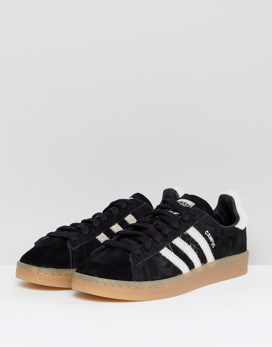 adidas campus black trainers