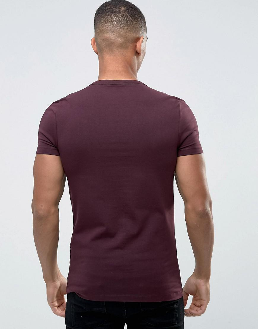 f7579cafc2 Lyst - ASOS Extreme Fitted Fit T-shirt With Deep V Neck And Stretch ...