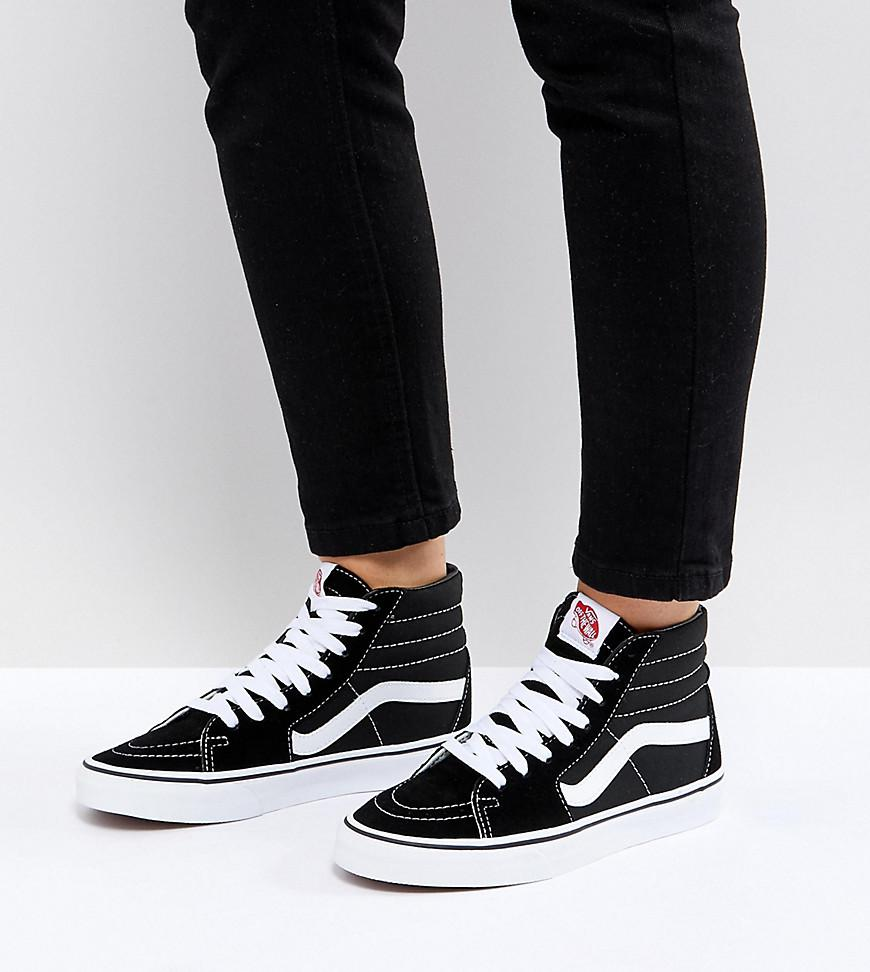 ac1a590bc05 Vans Classic Sk8 Hi Trainers In Black And White in Black - Save 41 ...