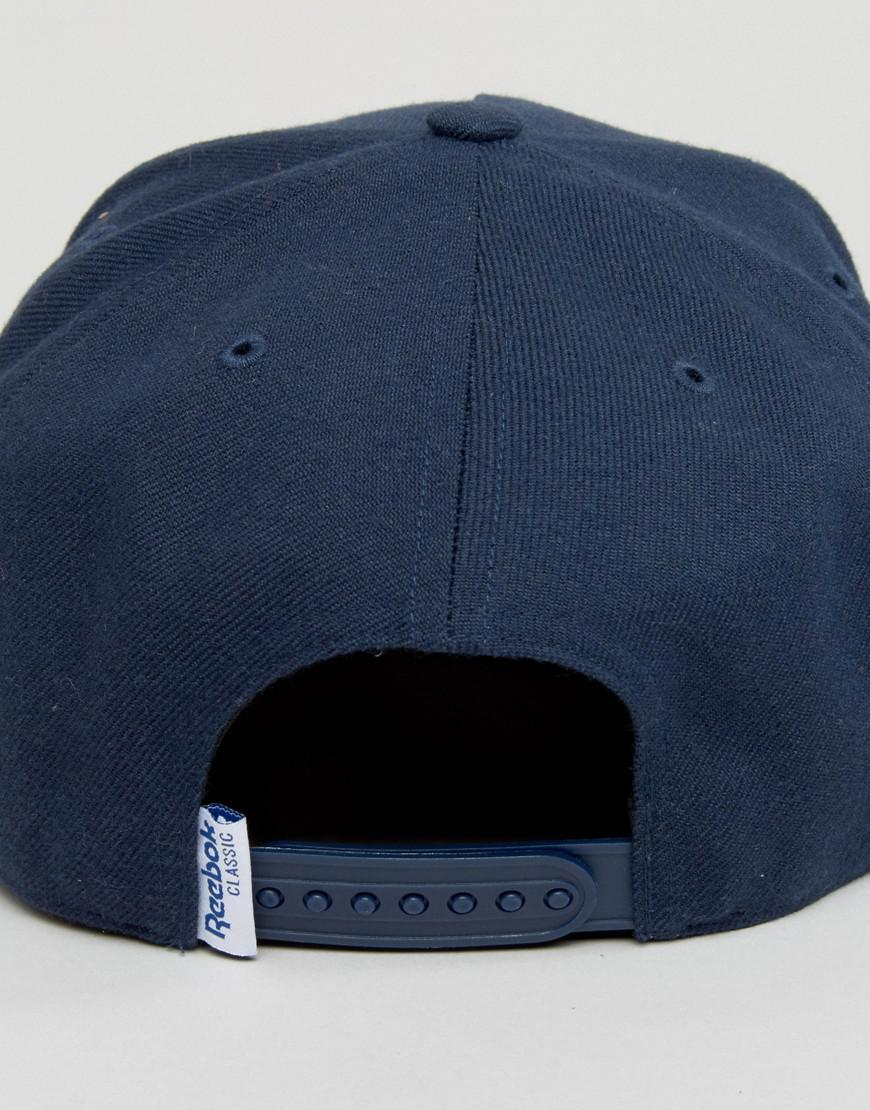 b28e4934fa1 Reebok Classic Foundation Cap In Navy Ao0039 in Blue for Men - Lyst