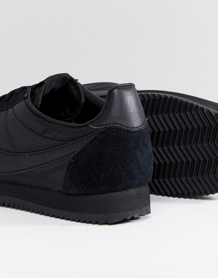 Nike Formateurs En Cuir Classique Cortez En Noir 807472-012 - Noir SHHYVj