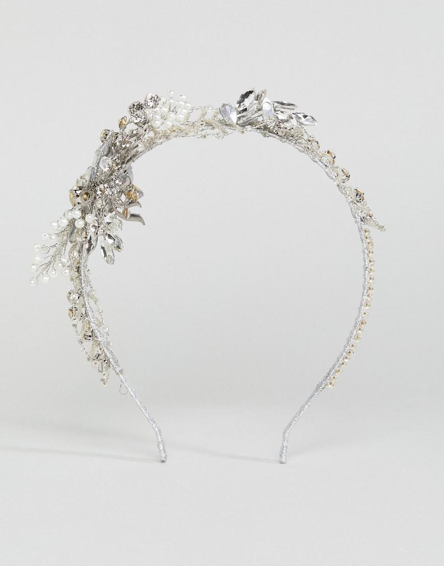 Lyst stone rose beaded wire flower crown in metallic wire flower crown lyst view fullscreen izmirmasajfo