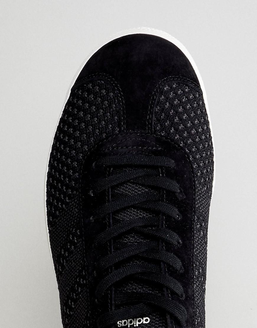 Gazelle Primeknit Sneakers In Black Bz0003