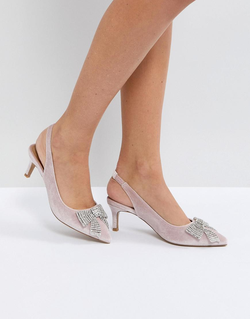 clearance Inexpensive SUSANNA Embellished Slingback Kitten Heels outlet Manchester best prices online discount explore clearance online official site QQUYOGQj