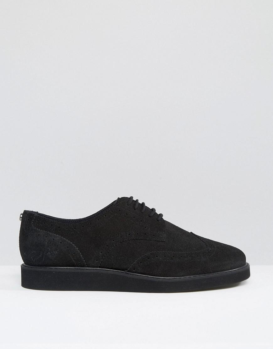 a8f332e1dc Lyst - Fred Perry Newburgh Suede Brogue Derby Shoes in Black for Men