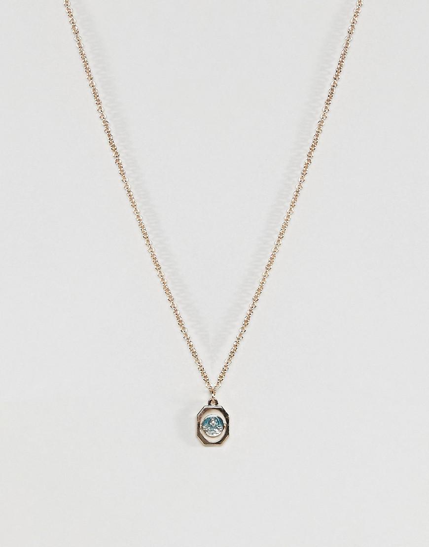 Vintage Style Heart Padlock and Mixed Pendant Multirow Necklace - Rhodium Asos R7Tsw
