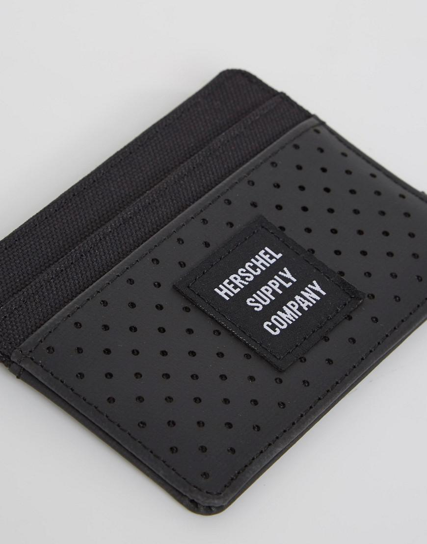 timeless design bfc37 f0161 Herschel Supply Co. Black Aspect Charlie Card Holder With Rfid for men
