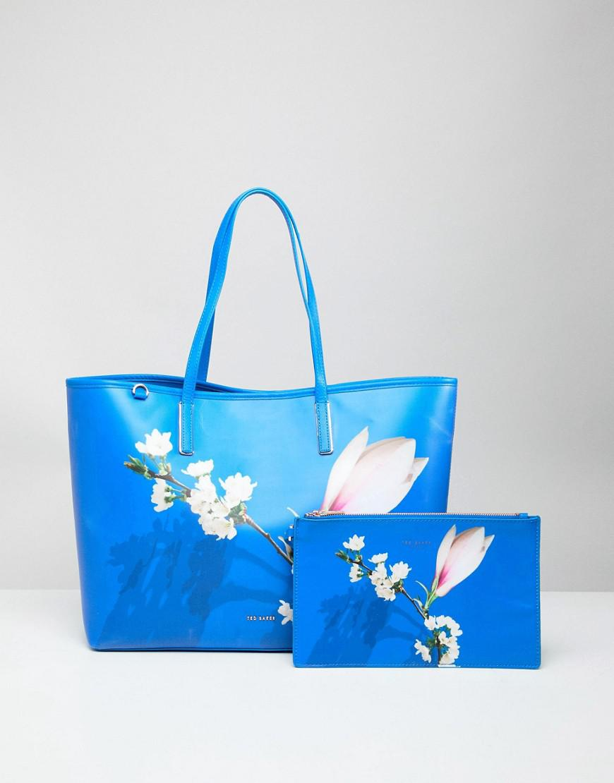 e2ff018c067c19 Ted Baker Coated Tote Bag In Harmony Floral in Blue - Lyst