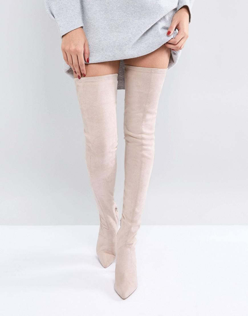 defa04d5f09 ASOS - Natural Asos Kendra Point Over The Knee Boots - Lyst