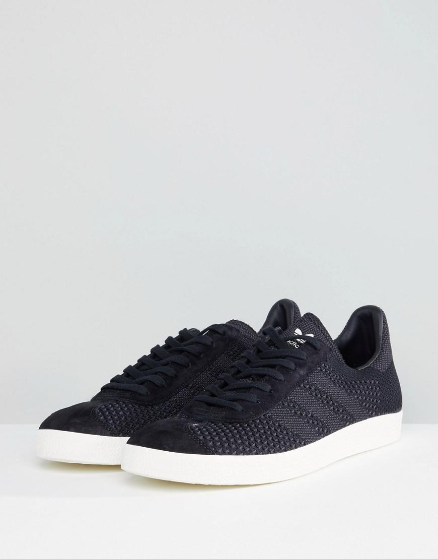 b152aba8a5e0 adidas Originals Gazelle Primeknit Sneakers In Black Bz0003 in Black ...