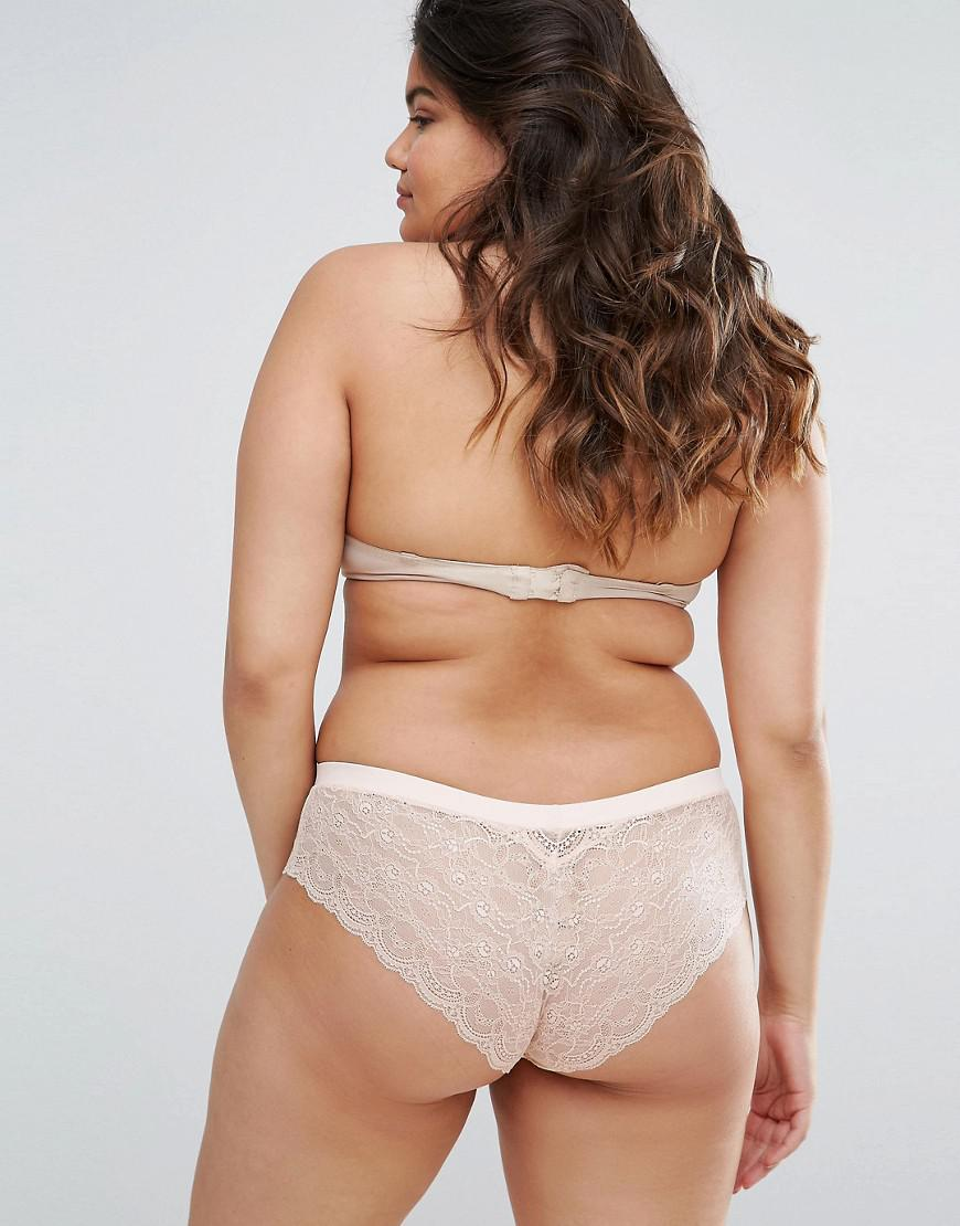 37b9e92632 Lyst - ASOS Asos Design Curve 3 Pack Microfibre   Lace French Knicker