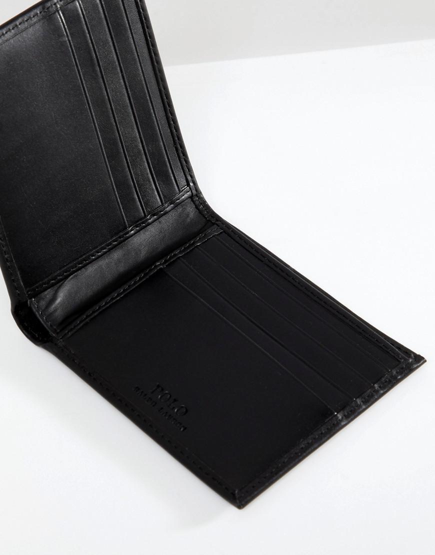 Lyst - Portefeuille porte-billets classique en cuir Polo Ralph Lauren pour  homme en coloris Noir 77dae1d5ba7