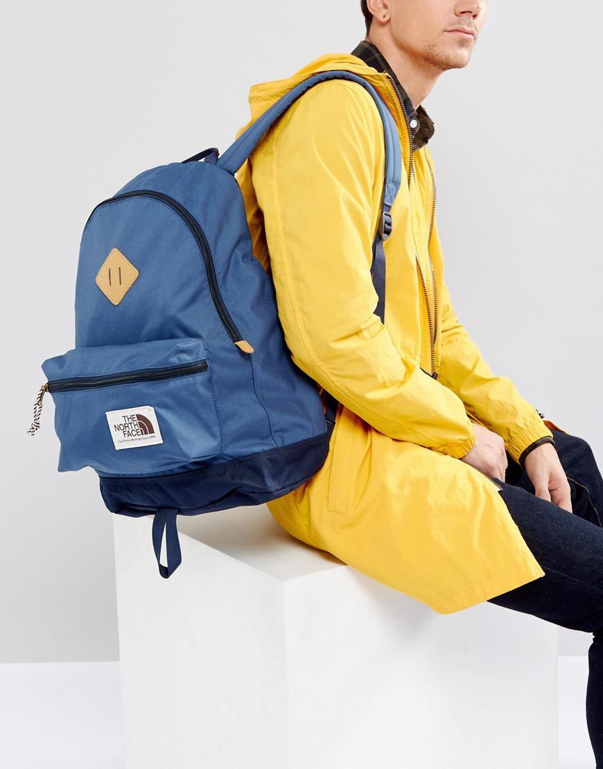 c7df1641c The North Face Blue Berkeley Backpack 25 Litre In Navy for men