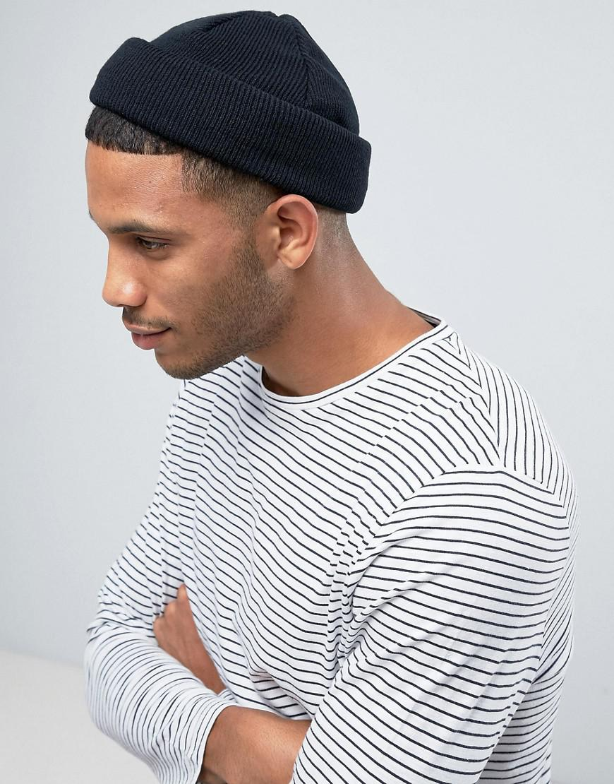 ASOS Mini Fisherman Beanie In Black in Black for Men - Lyst a5a98d5bed6