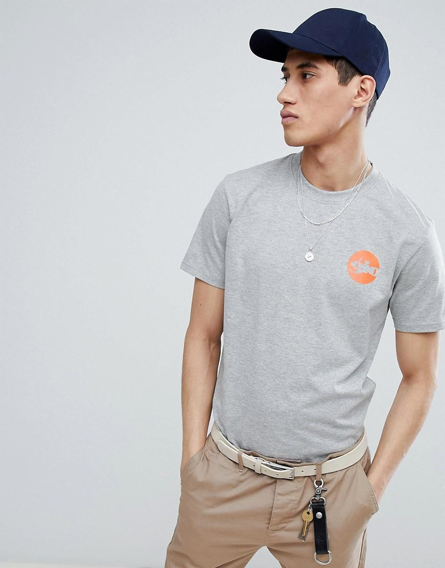 e2b52c3b Gio Goi T-shirt In Grey With Back Print in Gray for Men - Lyst