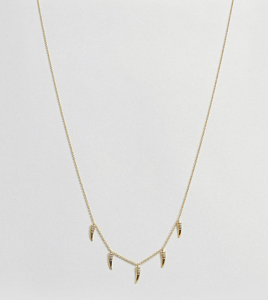 Gold Plated Horn Layering Pendant Necklace - Gold Orelia v2yosB2X
