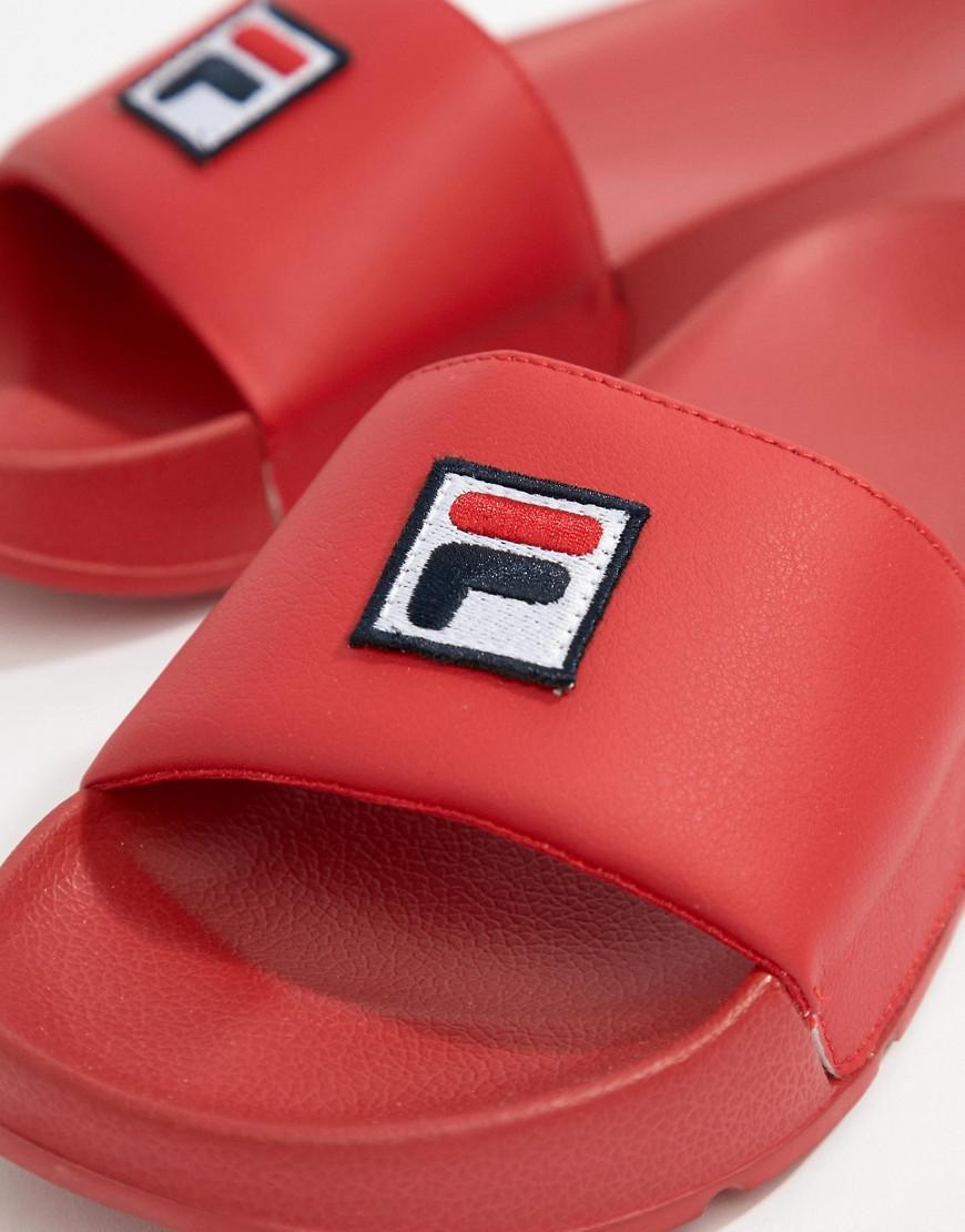 Fila Boîte Drifter Curseurs Logo En Rouge - Rouge TSx8Yb