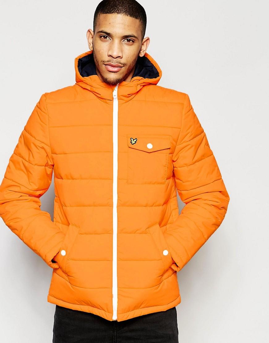 lyle scott waddad parka jacket in orange for men yellow save 73 lyst. Black Bedroom Furniture Sets. Home Design Ideas