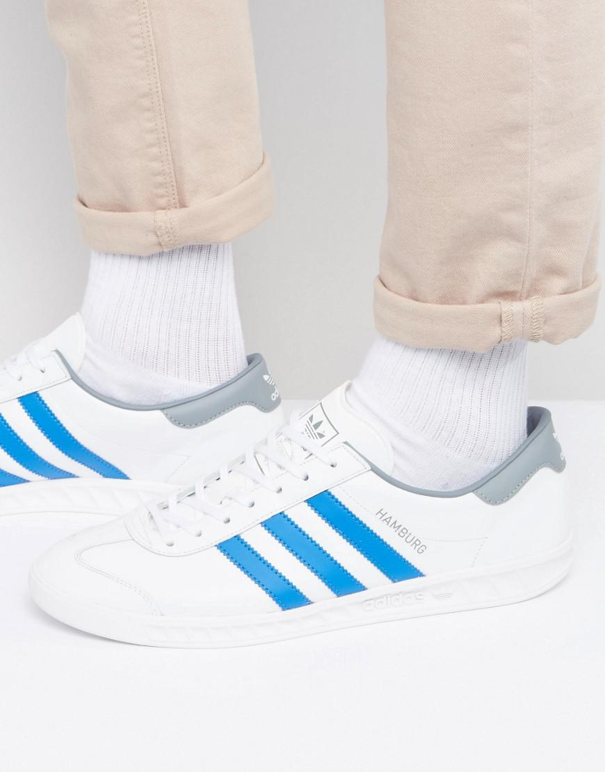 ba0973d29a74 adidas Originals Hamburg Trainers In White Bb2779 in White for Men ...