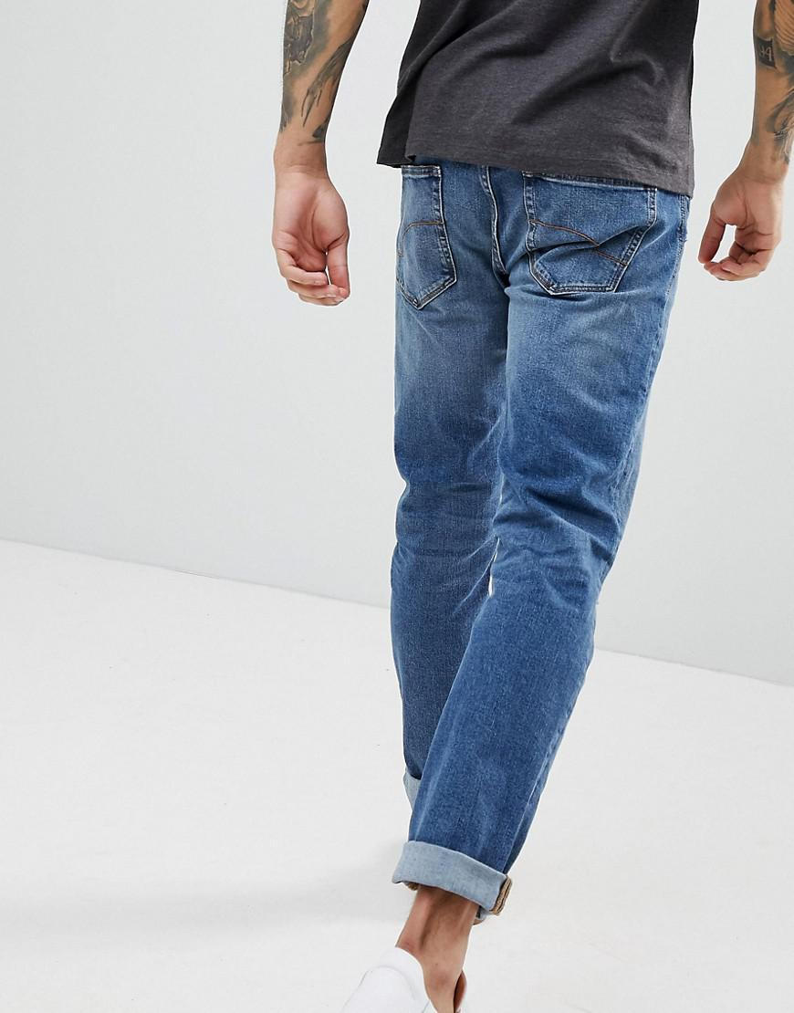 Esprit Denim Slim Jeans In Stone Wash With Rips in Blue for Men