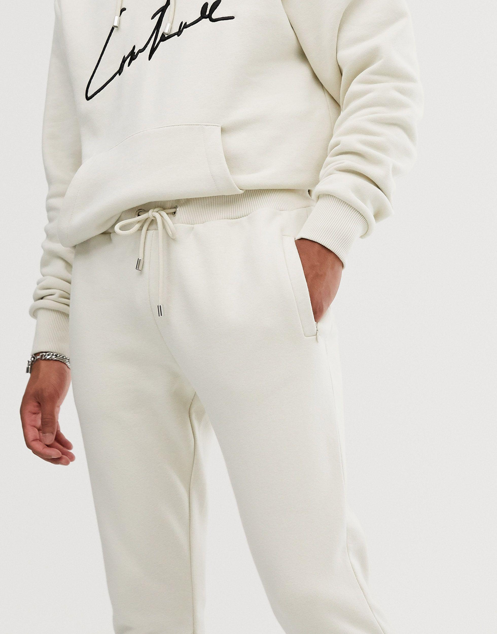 The Couture Club Denim Skinny joggingbroek in het Wit voor heren