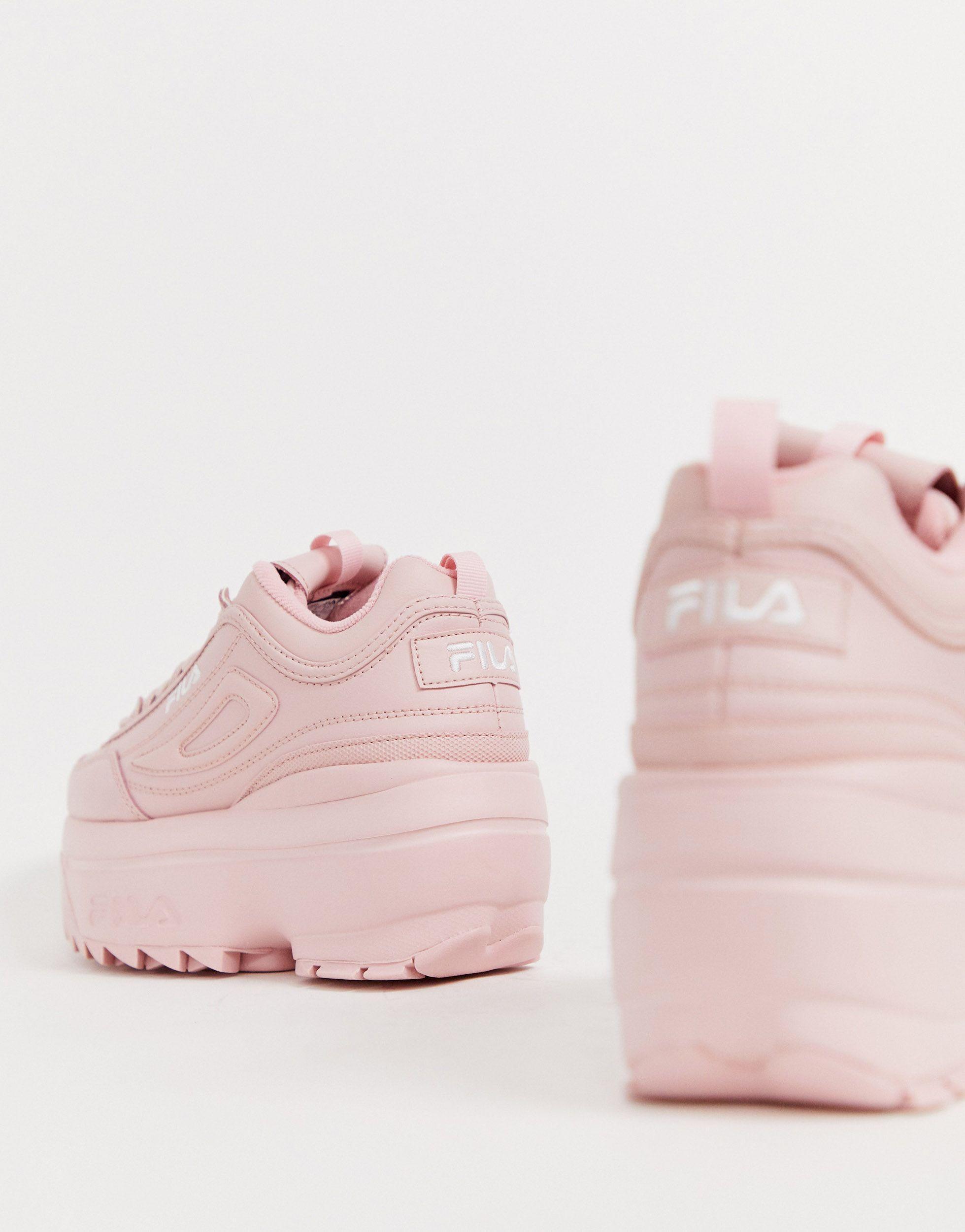Zapatillas Fila de Cuero de color Rosa