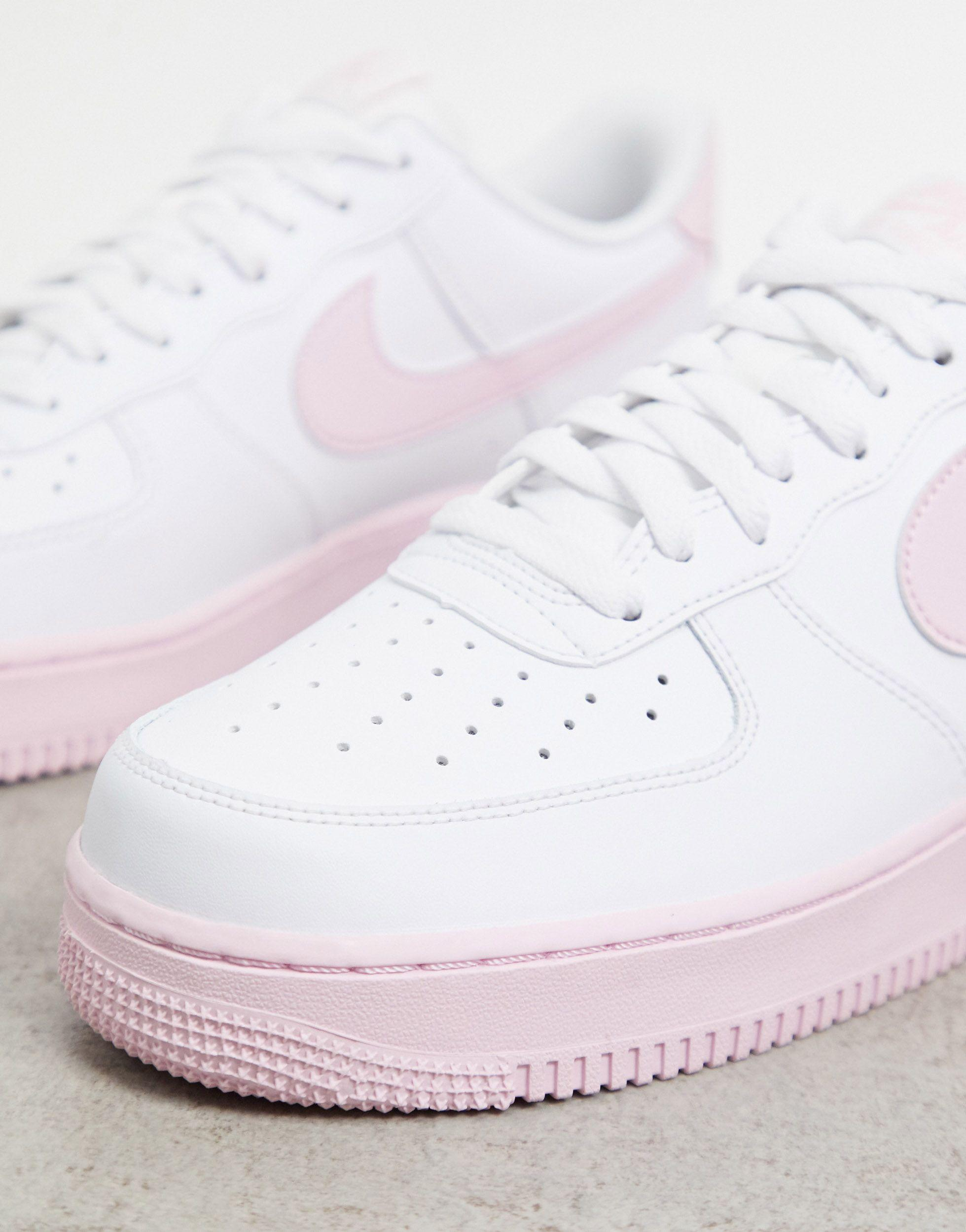 Nike Air Force 1 '07 Brick Trainers in White/Pink (White) for Men ...