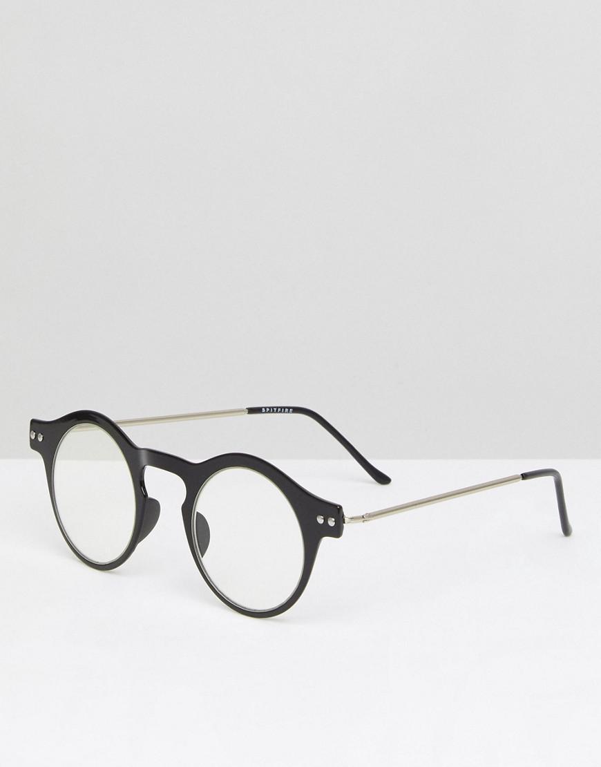 8b2946ae33 Spitfire Nexus Round Clear Lens Glasses In Black in Black for Men - Lyst