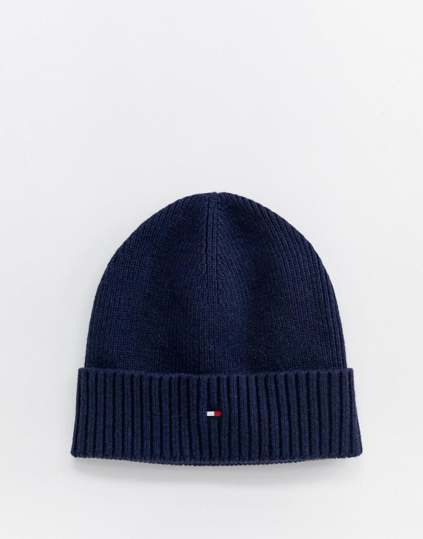 Lyst - Tommy Hilfiger Pima Cotton Cashmere Beanie In Navy in Blue for Men 1cd33f202719