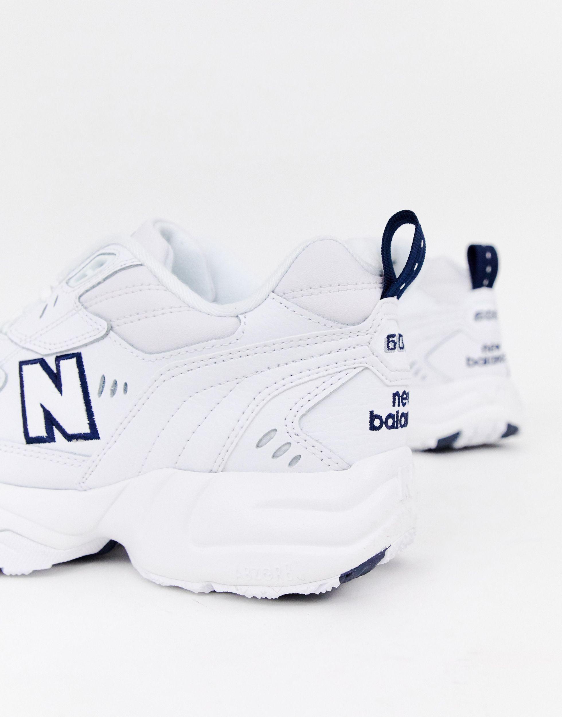 608 - MX608WT Cuir New Balance pour homme en coloris Blanc