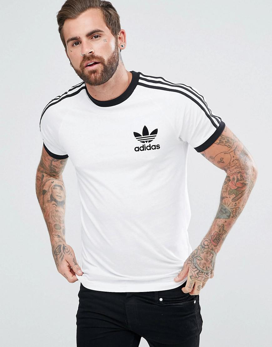 Lyst adidas originals california t shirt az8128 in white for White t shirt style men
