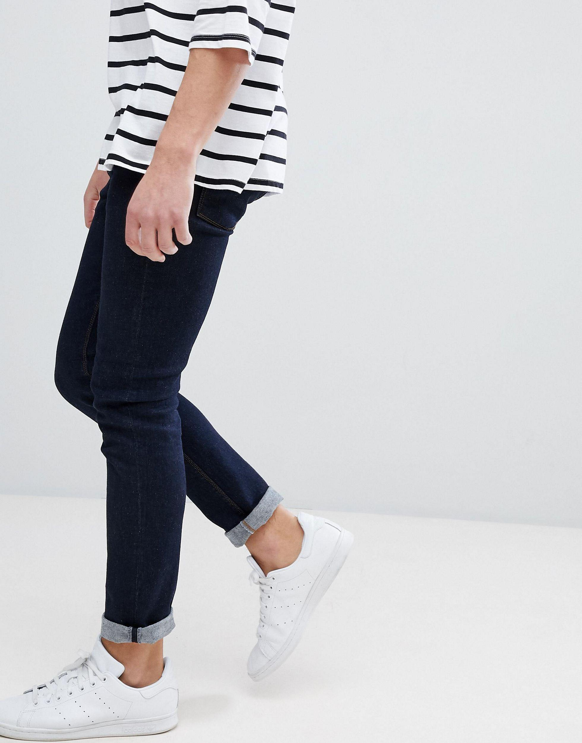 Noak Denim Noak Skinny Jeans In Raw Blue for Men