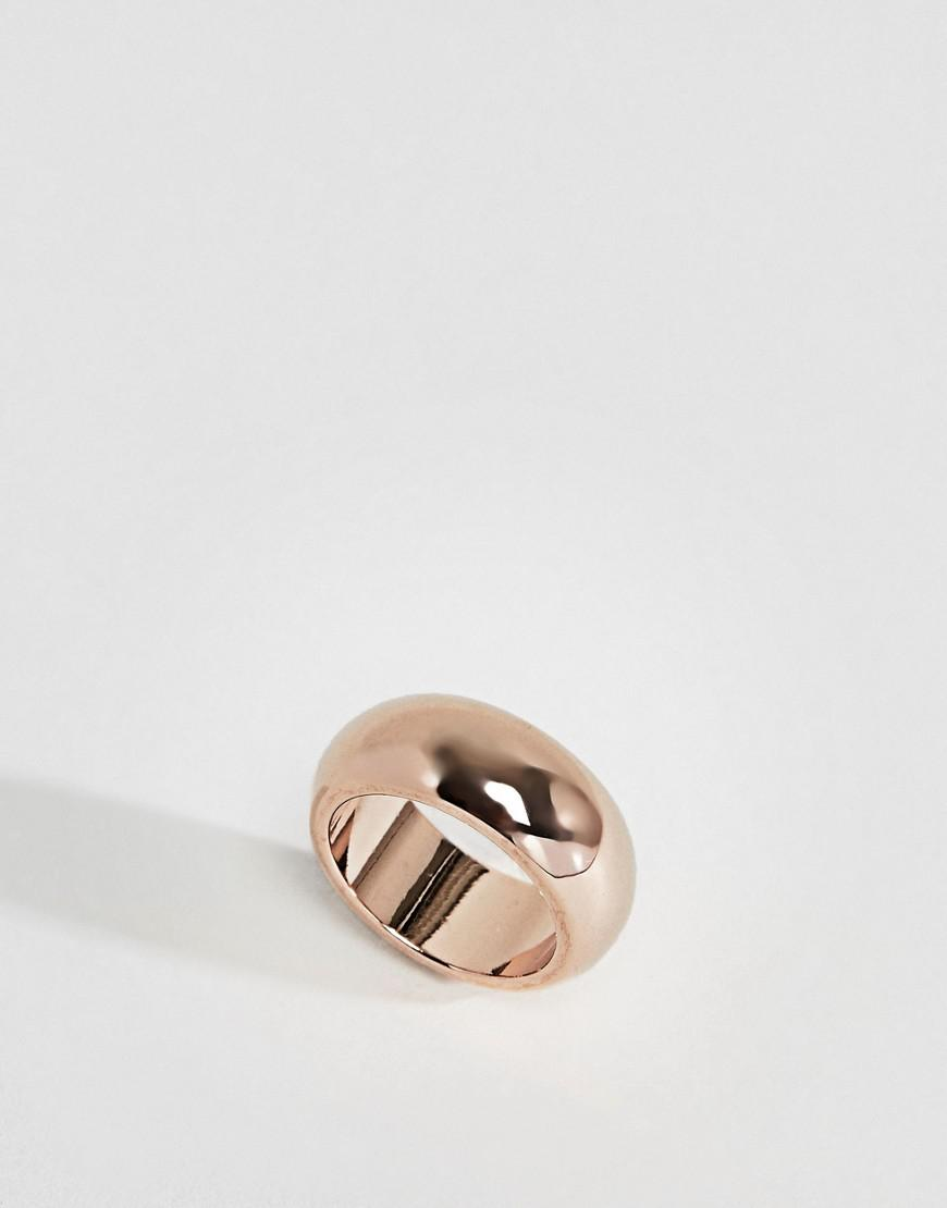 Limited Edition Sleek Flat Edge Graduated Ring - Gold Asos Efg2p1ZTC