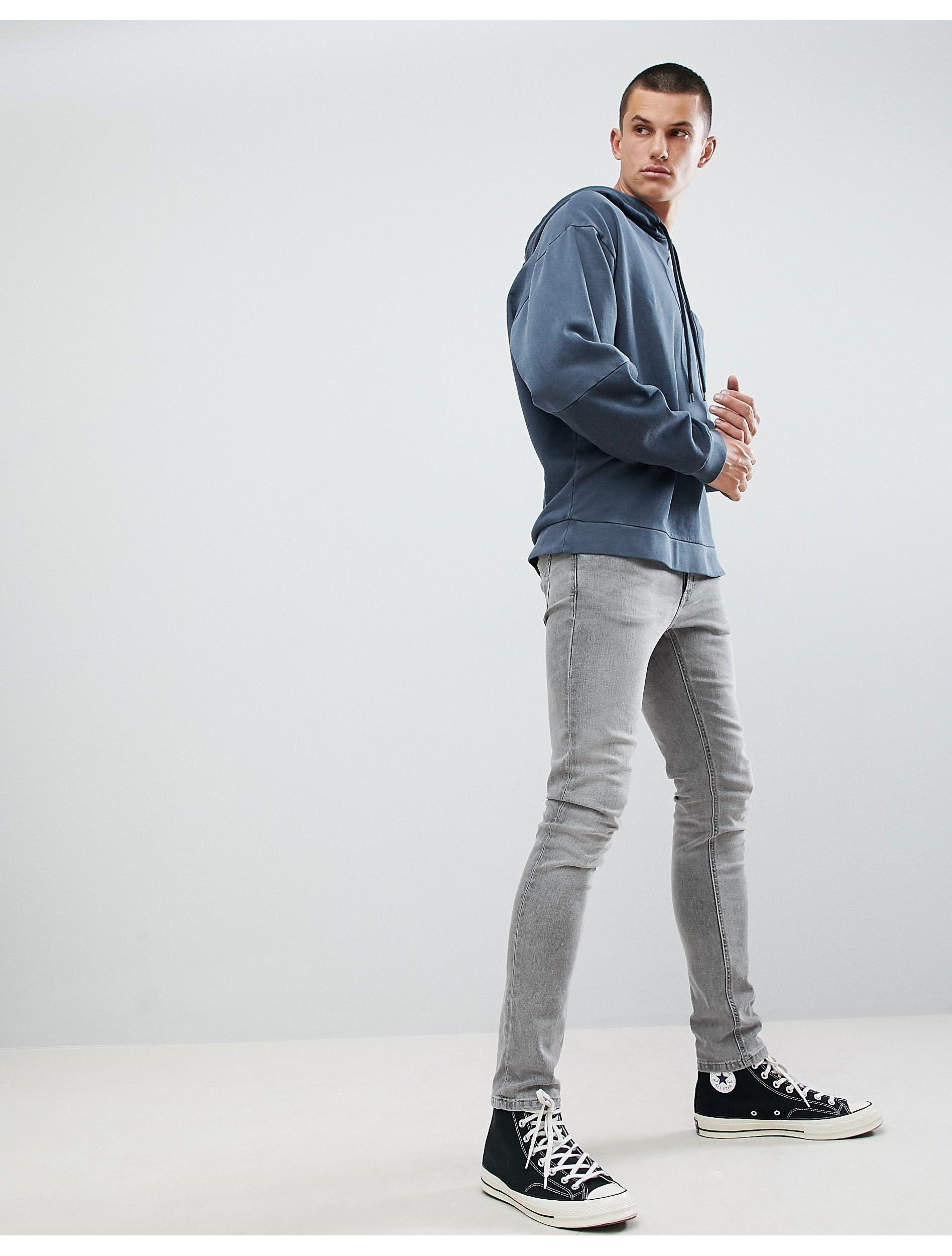 ASOS Oversized Hoodie With Colour Block Sleeves in Navy (Blue) for Men