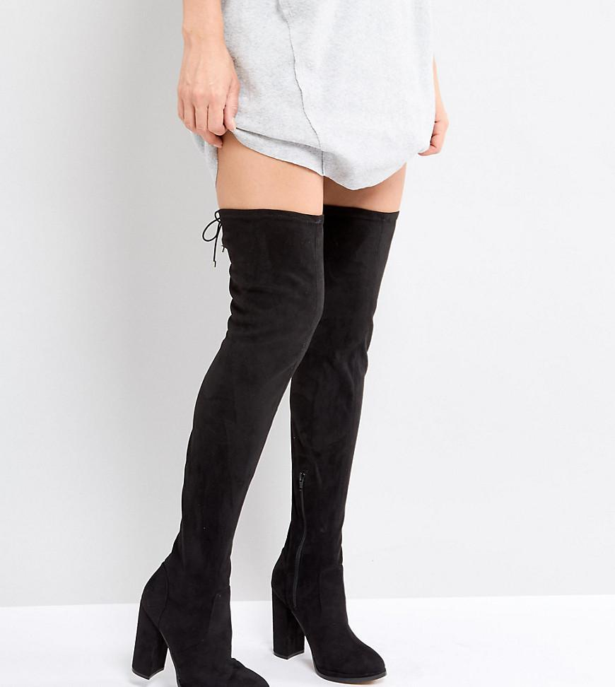 20ea36aca1e Lyst - ASOS Asos Kingship Heeled Over The Knee Boots in Black